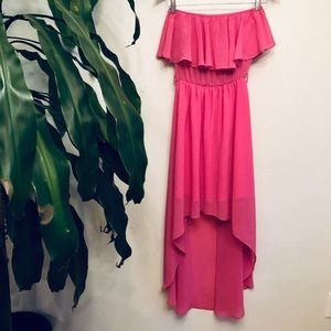 Halo Pink Halter Maxi Dress